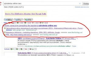 Wyniki oznaczone gwiazdką dla zapytania - nowość w wynikach wyszukiwania Google