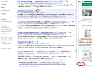 Brak linku podobne w SERPach w Google