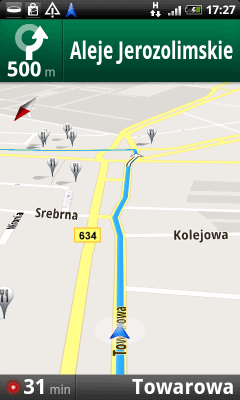 Nawigacja w Mapach Google