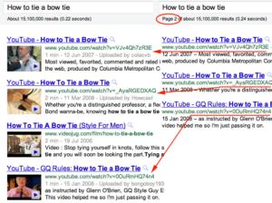 Podwójne wyniki w wynikach wyszukiwania Google