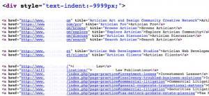 Zastosowanie text-indent-9999 to złamanie Wytycznych Google dla Webmasterów