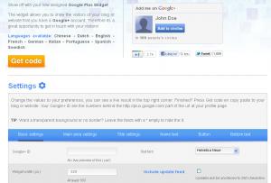 Widżet Google+ - możliwości konfiguracyjne