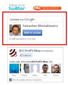Mój widżet Google+