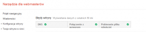 Błędy witryny w Narzędziach Google dla Webmasterów