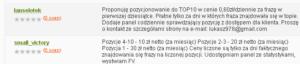 Oferty taniego pozycjonowania na Oferia.pl