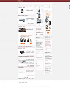 Przykłąd witryny dotkniętej Pandą - strona główna