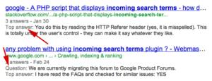 Najlepsza odpowiedź z forum widoczna w SERPach w Google