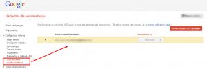 Zarządzanie uprawnienia użytkownikó w Narzędziach Google dla Webmasterów
