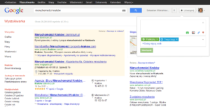 Wysyłanie informacji na Google+ z wyszukiwarki z poziomu SERPów