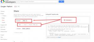 Jak wstawić przycisk Google+ udostepnij na swojej stronie