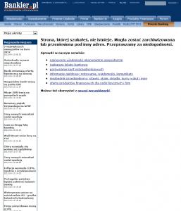 Użyteczna strona błędu 404 - bankier.pl