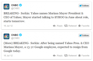 Marissa Mayer odchodzi z Google do Yahoo