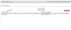 Ramka programu SeoPilot.pl na stronach emitujących linki z programu