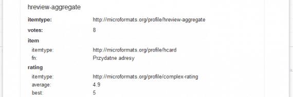 Dane strukturalne - szczegóły dla każdej strony