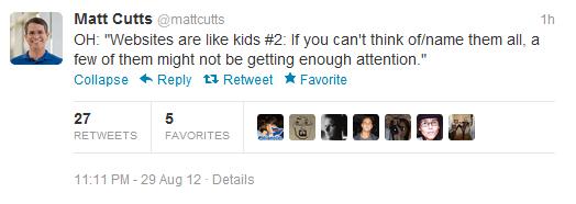 Strony są jak dzieci by Matt Cutts - 2