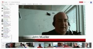 Hangout z Johnem Muellerem z Google