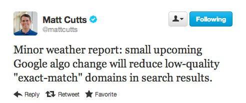 Dokładne dopasowanie frazy do domeny nie gwarantuje już wysokich pozycji w Google