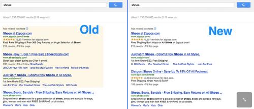 Google testuje reklamy Adwords na białym tle