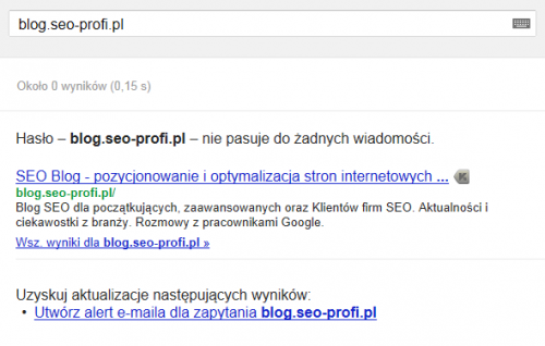 Blog SEO Profi w Google News