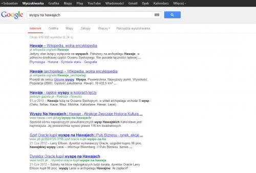 Hawaje w SERPach w Google PL