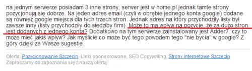 Pozycjonowanie Szczecin - z życia wzięte cz. 1