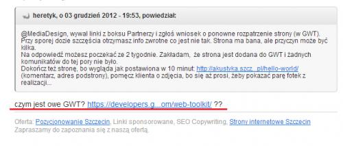 Pozycjonowanie Szczecin - z życia wzięte cz. 3
