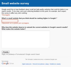 Mała strona niskow  Google? Zgłoś to nam.