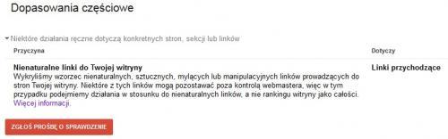 Dopasowania częściowe - linki poza kontrolą webmastera