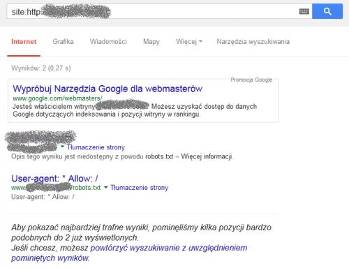 Strona Z i BEZ www to dla Google dwa różne adresy