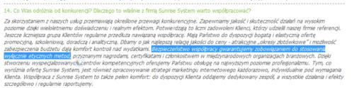 Sunrise System stopsuje wyłącznie etyczne metody?