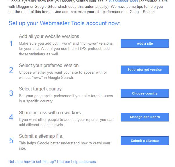 Komunikat od Google po dodaniu strony do Narzędzi dla Webmasterów - zwiększ jej widoczność w wynikach wyszukiwania