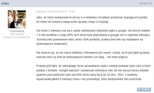 Nie dziwcie się, że nie macie efektó - opinia użytkownika o e-weblinku