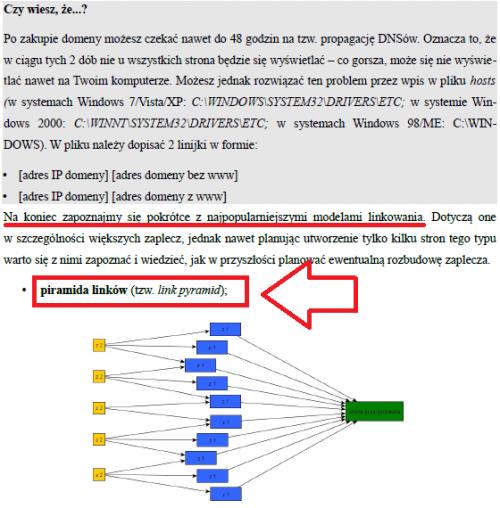 """Piramida linków jako metoda na """"naturalne pozycjonowanie"""" w kursie mailowym pozycjonowania dla początkujących"""