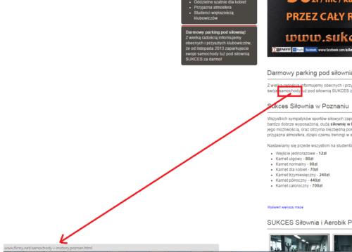 Linkowanie anchorami w Firmy.net