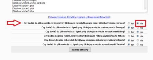 IAI - konfiguracja blokady robotów w robots.txt
