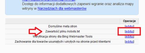 IAI - modyfikacja pliku robots.txt