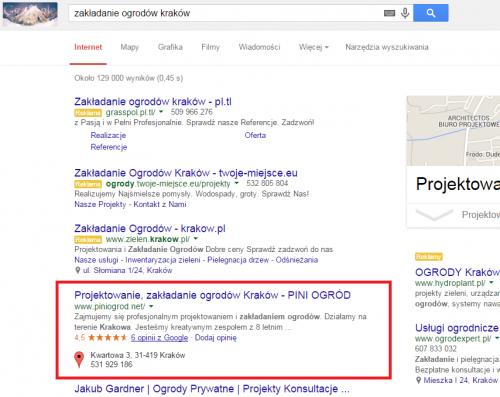 Nowe SERPy - mierjsca Google - 3 wyniki