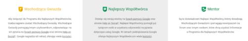eksperci na forach google - zrzut ze strony Trenera Google Tomasza Ciepłucha