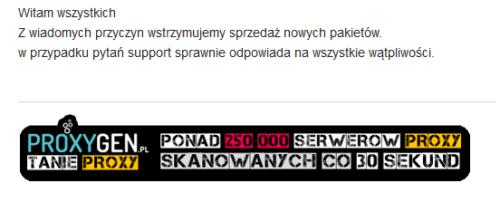 proxygen przestaje oferować publiczne proxy pod Google