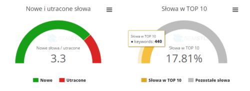 SEMSTORM - nowe i utracone słowa oraz TOP10