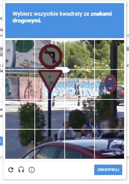 Search COnssole - wybierz wszystkie kwadraty ze znakami drogowymi